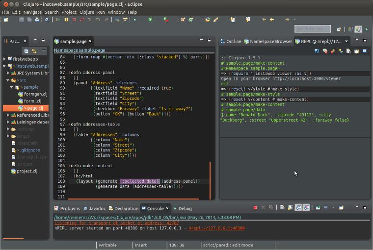 Configuring Eclipse for Clojure - falkoriemenschneider de